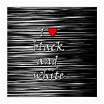 I love black and white 2 Medium Glasses Cloth (2-Side) Front