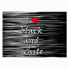 I Love Black And White 2 Large Glasses Cloth (2 Side)