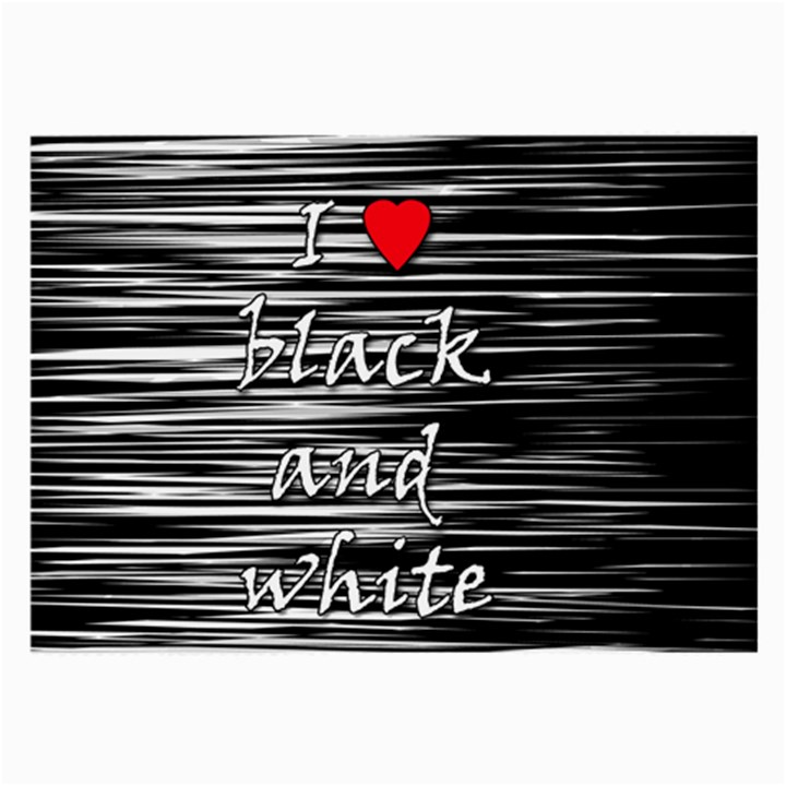 I love black and white 2 Large Glasses Cloth (2-Side)