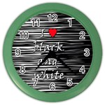 I love black and white 2 Color Wall Clocks Front