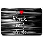 I love black and white 2 Large Doormat  30 x20 Door Mat - 1