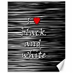 I love black and white 2 Canvas 11  x 14   14 x11 Canvas - 1