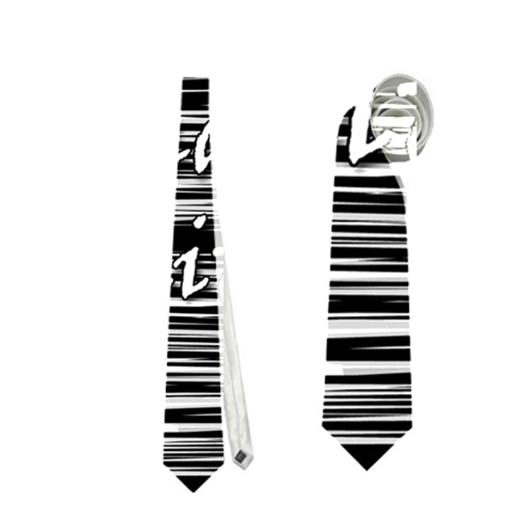 I love black and white 2 Neckties (One Side)