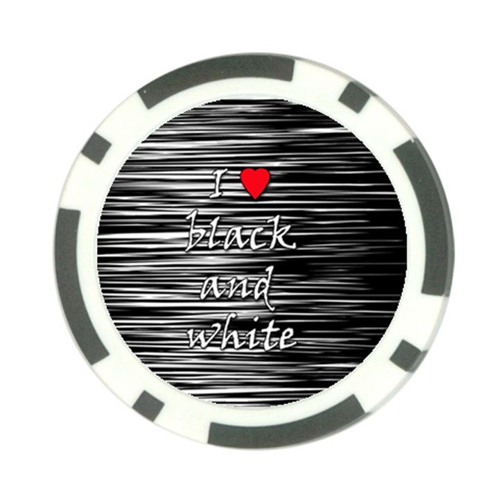 I love black and white 2 Poker Chip Card Guards