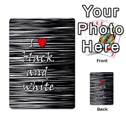I love black and white 2 Multi-purpose Cards (Rectangle)