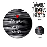 I love black and white 2 Multi-purpose Cards (Round)  Back 43