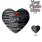 I love black and white 2 Multi-purpose Cards (Heart)  Front 24