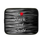I love black and white 2 Netbook Case (Small)  Front