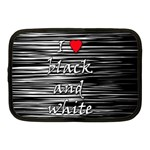 I love black and white 2 Netbook Case (Medium)  Front