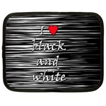 I love black and white 2 Netbook Case (Large) Front