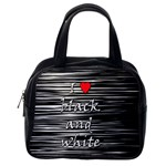 I love black and white 2 Classic Handbags (2 Sides) Back