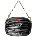 I love black and white 2 Chain Purses (One Side)  Front