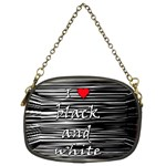 I love black and white 2 Chain Purses (Two Sides)  Front