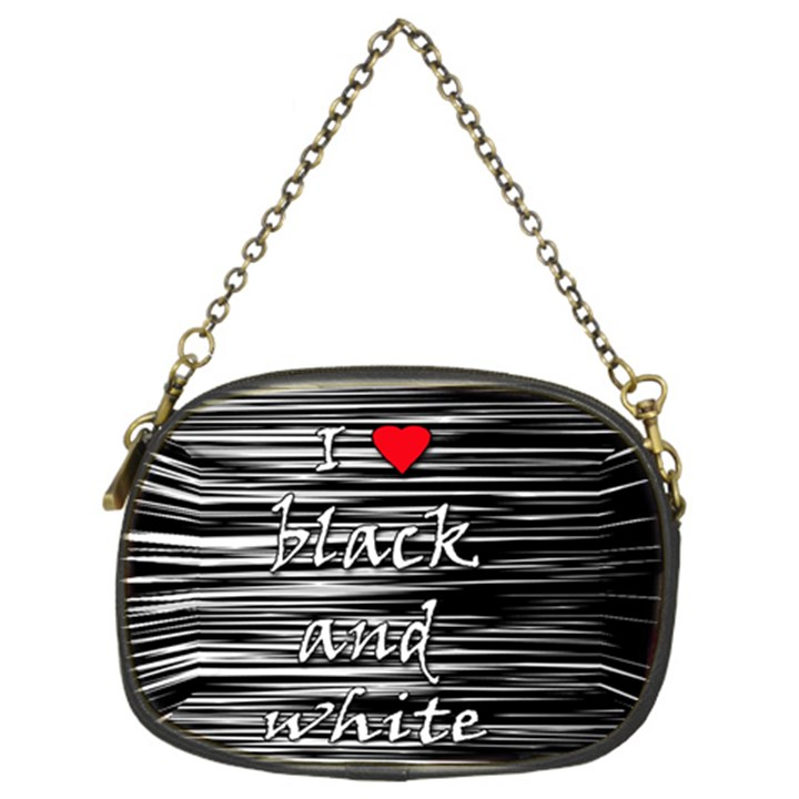 I love black and white 2 Chain Purses (Two Sides)
