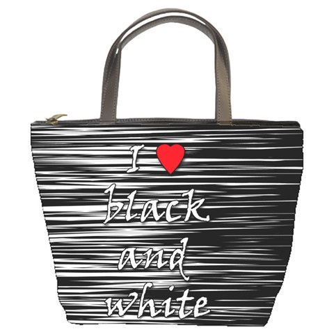 I love black and white 2 Bucket Bags