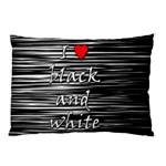 I love black and white 2 Pillow Case 26.62 x18.9 Pillow Case