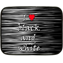 I Love Black And White 2 Fleece Blanket (mini)