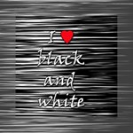 I love black and white 2 Mini Canvas 6  x 6  6  x 6  x 0.875  Stretched Canvas