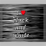 I love black and white 2 Canvas 14  x 11  14  x 11  x 0.875  Stretched Canvas