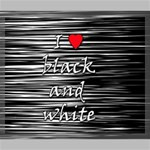 I love black and white 2 Canvas 24  x 20  24  x 20  x 0.875  Stretched Canvas