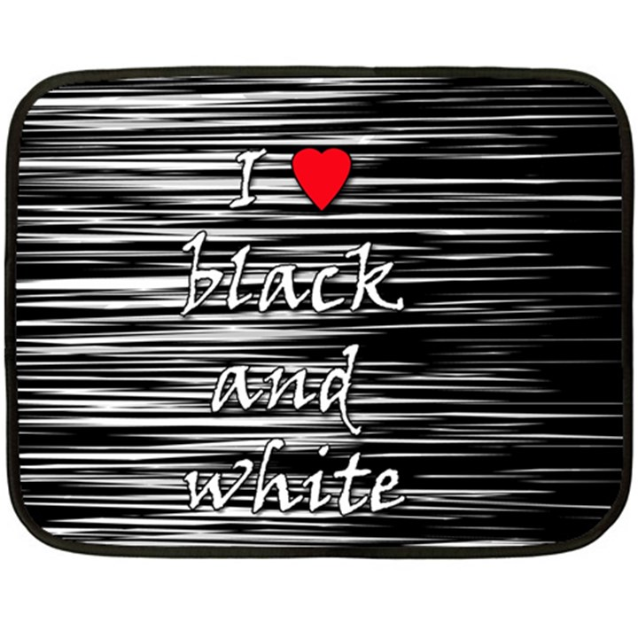 I love black and white 2 Double Sided Fleece Blanket (Mini)
