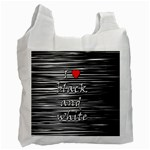 I love black and white 2 Recycle Bag (One Side) Front