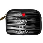 I love black and white 2 Digital Camera Cases Front