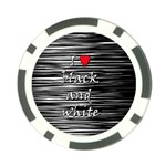 I love black and white 2 Poker Chip Card Guards (10 pack)  Back