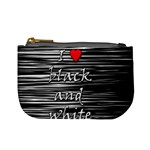 I love black and white 2 Mini Coin Purses Front