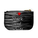 I love black and white 2 Mini Coin Purses Back