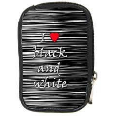 I Love Black And White 2 Compact Camera Cases