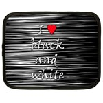 I love black and white 2 Netbook Case (XL)  Front