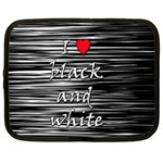 I love black and white 2 Netbook Case (XXL)  Front