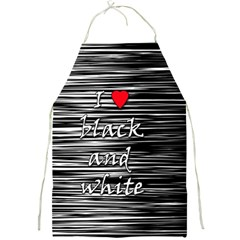 I love black and white 2 Full Print Aprons