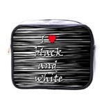 I love black and white 2 Mini Toiletries Bags Front