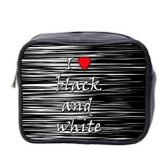 I Love Black And White 2 Mini Toiletries Bag 2 Side