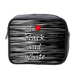 I love black and white 2 Mini Toiletries Bag 2-Side Front