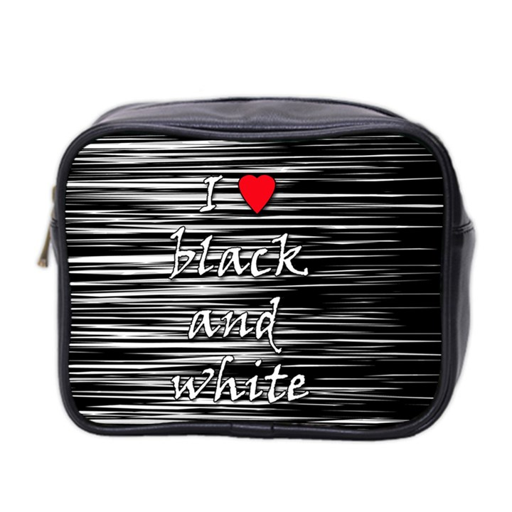 I love black and white 2 Mini Toiletries Bag 2-Side