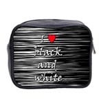 I love black and white 2 Mini Toiletries Bag 2-Side Back
