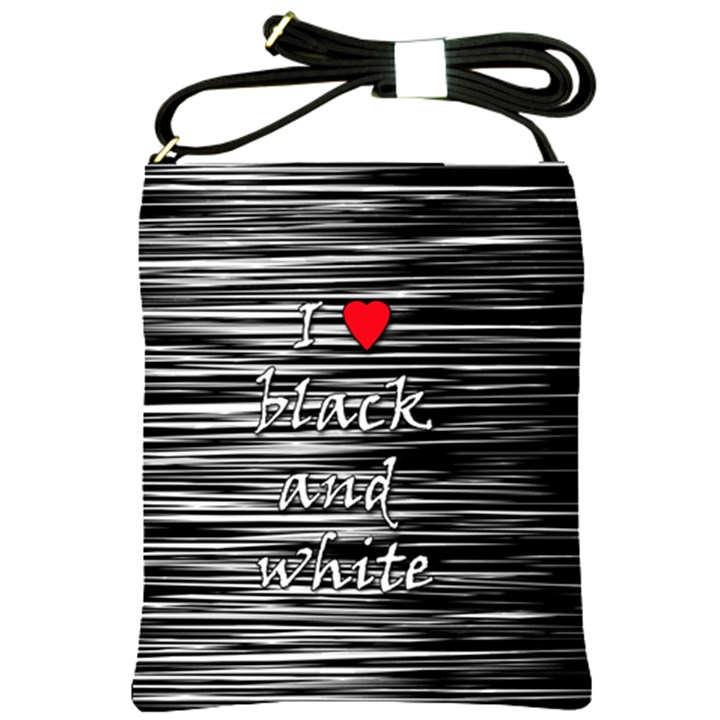 I love black and white 2 Shoulder Sling Bags