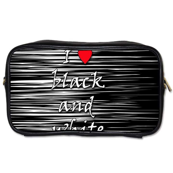 I love black and white 2 Toiletries Bags