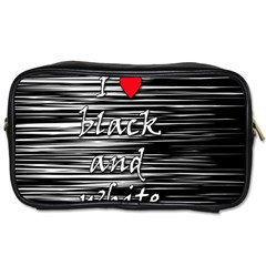 I Love Black And White 2 Toiletries Bags 2 Side