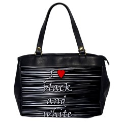 I Love Black And White 2 Office Handbags