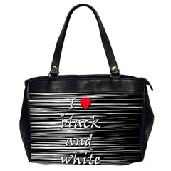 I love black and white 2 Office Handbags (2 Sides)