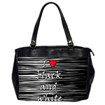 I love black and white 2 Office Handbags (2 Sides)  Front