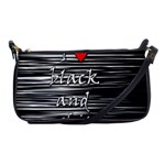 I love black and white 2 Shoulder Clutch Bags Front