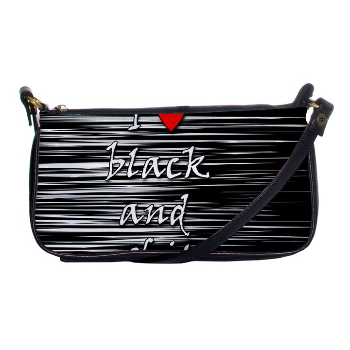 I love black and white 2 Shoulder Clutch Bags