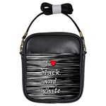 I love black and white 2 Girls Sling Bags Front