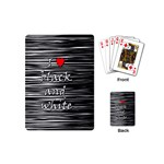 I love black and white 2 Playing Cards (Mini)  Back