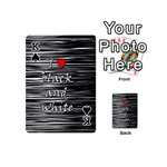 I love black and white 2 Playing Cards 54 (Mini)  Front - SpadeK